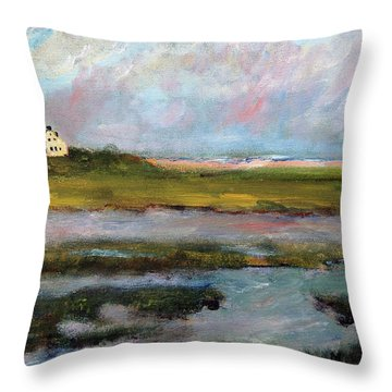 Springtime In The Marsh Throw Pillow