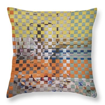 Throw Pillow featuring the mixed media Springtime by Jan Bickerton
