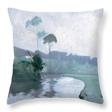 Throw Pillow featuring the painting Springtime by John Henry Twachtman