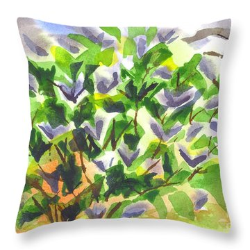 Springtime Lilac Abstraction Throw Pillow by Kip DeVore