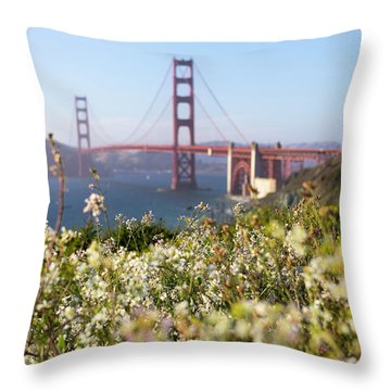 Throw Pillow featuring the photograph Springtime On The Bay by Everet Regal