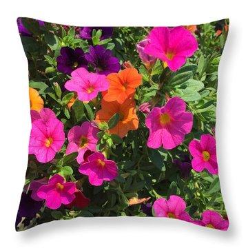 Springtime On The Farm Throw Pillow