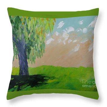 Springtime Willow Throw Pillow