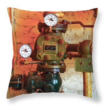 A Spinkle In Time Sprinkler Guages Throw Pillow