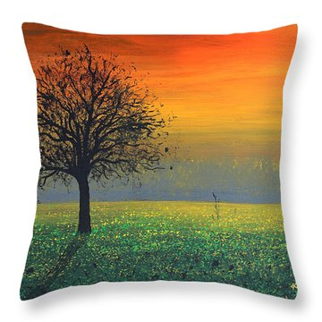 Sprinkles Of The Evening Sun Throw Pillow