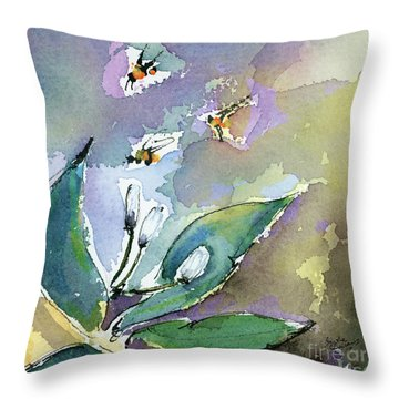 Sprint Fever Watercolor And Ink Throw Pillow