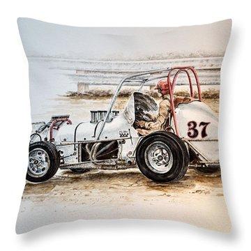 Sprint N Dirt Throw Pillow