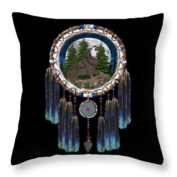Sprit Of The Wolf Throw Pillow
