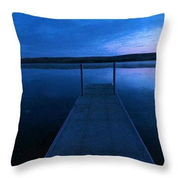 Springbrook Lake At Dawn Throw Pillow by Jeff Swan