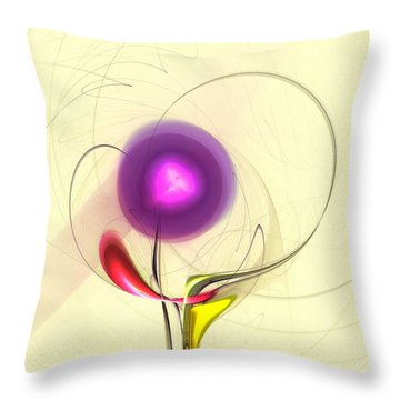 Throw Pillow featuring the digital art Sprout by Anastasiya Malakhova