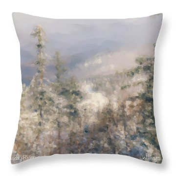 Spruce Peak Summit At Sunday River Throw Pillow