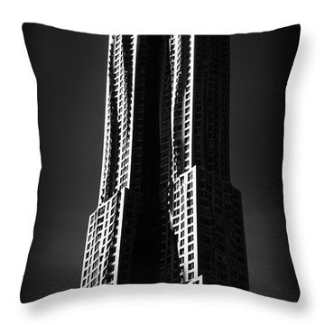 Throw Pillow featuring the photograph Spruce Street By Gehry by Jessica Jenney
