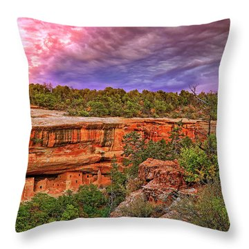 Spruce Tree House At Mesa Verde National Park - Colorado Throw Pillow by Jason Politte