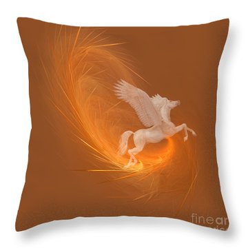 Spun From Gold Throw Pillow by Corey Ford