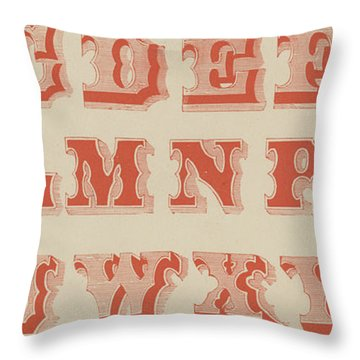 Spurred Letter Throw Pillow