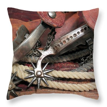 Throw Pillow featuring the photograph Spurs #2 by Scott Kingery