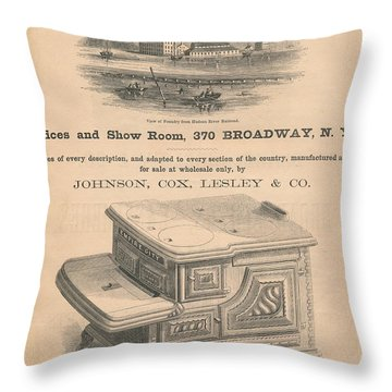 Spuyten Duyvil Stoveworks  Throw Pillow by Cole Thompson