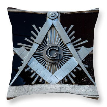 Square And Compass Throw Pillow