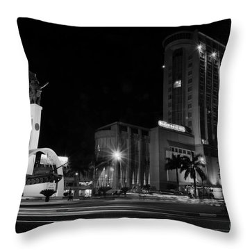 square Buon Me Thuot city Throw Pillow