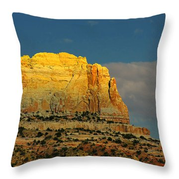 Square Butte - Navajo Nation Near Kaibeto Az Throw Pillow by Christine Till