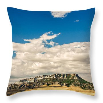 Square Butte Throw Pillow