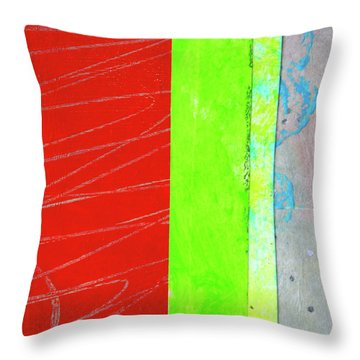Throw Pillow featuring the painting Square Collage No. 5 by Nancy Merkle