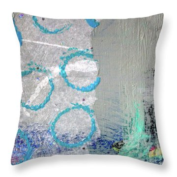 Throw Pillow featuring the painting Square Collage No. 6 by Nancy Merkle