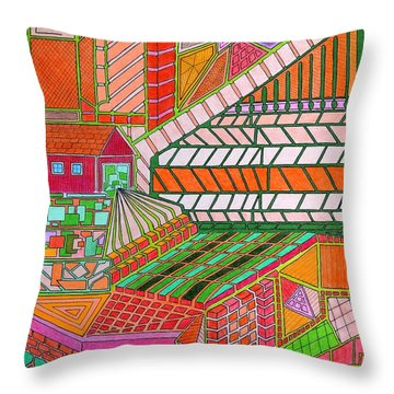 Square Dance 2 Throw Pillow