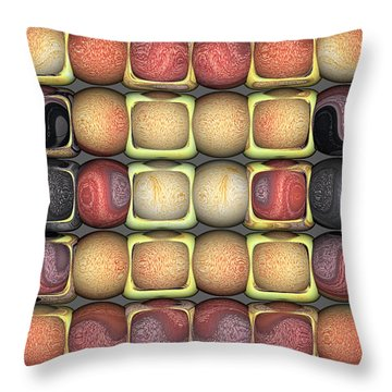 Throw Pillow featuring the digital art Square Holes Round Pegs by Wendy J St Christopher