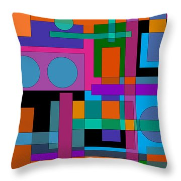 Square Pegs Throw Pillow