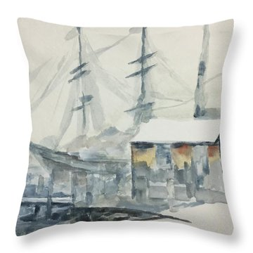 Square Rigger Throw Pillow