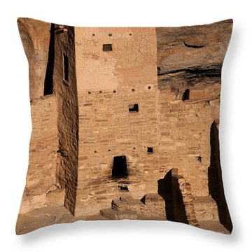 Square Tower At Sunset Throw Pillow