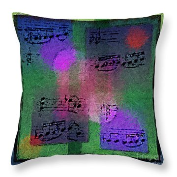 Throw Pillow featuring the digital art Squarely In Frame - Boxed Bars by Lon Chaffin