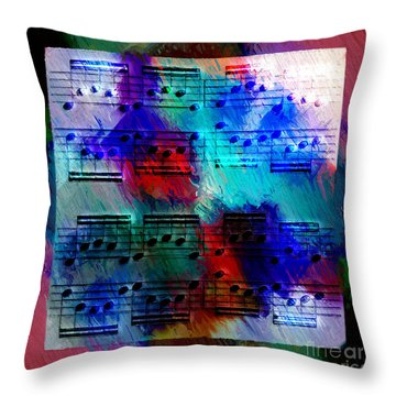 Throw Pillow featuring the digital art Squarely In Frame - Circular Figures by Lon Chaffin