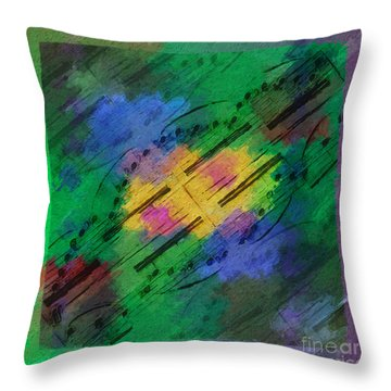 Throw Pillow featuring the digital art Squarely In Frame - Mirrored Motive by Lon Chaffin
