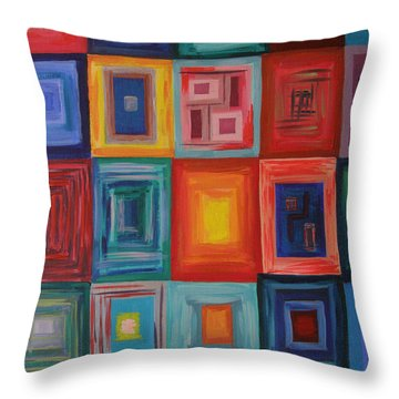 Squares Throw Pillow
