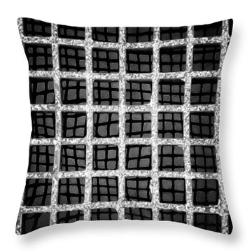 Throw Pillow featuring the photograph Squaresville by Tom Vaughan