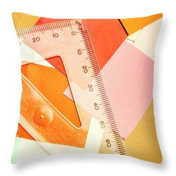 Squaring A Triangular Rule Throw Pillow