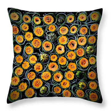 Squash And Zucchini Patters Throw Pillow