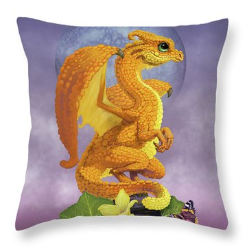 Throw Pillow featuring the digital art Squash Dragon by Stanley Morrison