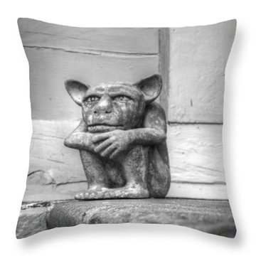 Throw Pillow featuring the photograph Squatter by Michael Colgate