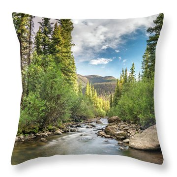 Squaw Creek, Colorado Throw Pillow