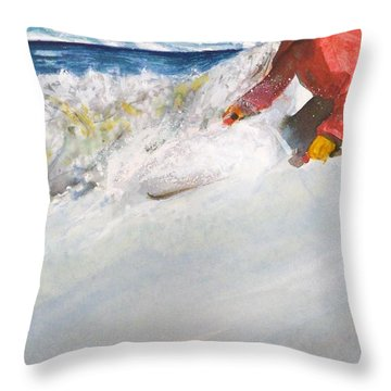 Throw Pillow featuring the painting Beaver Creak by Ed Heaton