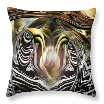 Throw Pillow featuring the photograph Squid Liquidation by Steve Sperry