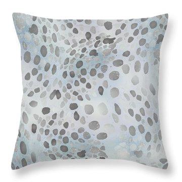 Squid Spots - Blue Gray Throw Pillow