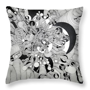 Squiggle Art By Amy Throw Pillow