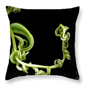 Squiggle Throw Pillow by Sabrina L Ryan