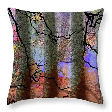 Squiggles And Lines Throw Pillow by Robert Ball