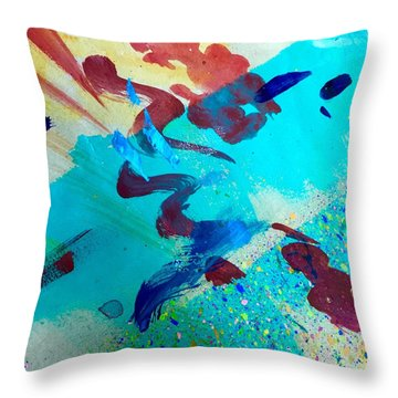 Throw Pillow featuring the painting Squiggles And Stripes by Darice Machel McGuire