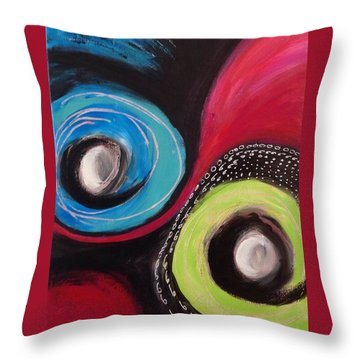 Squiggles And Wiggles   Throw Pillow by Suzzanna Frank